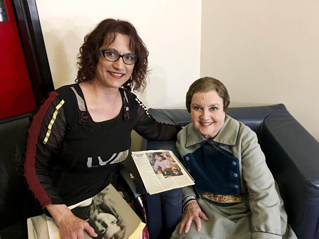 Dina with Lorraine from the Sound of Music production